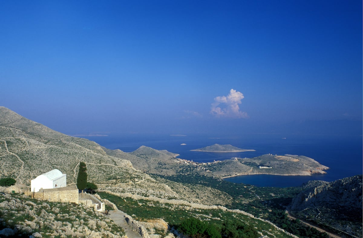 Halki Island of the Dodecanese Chora