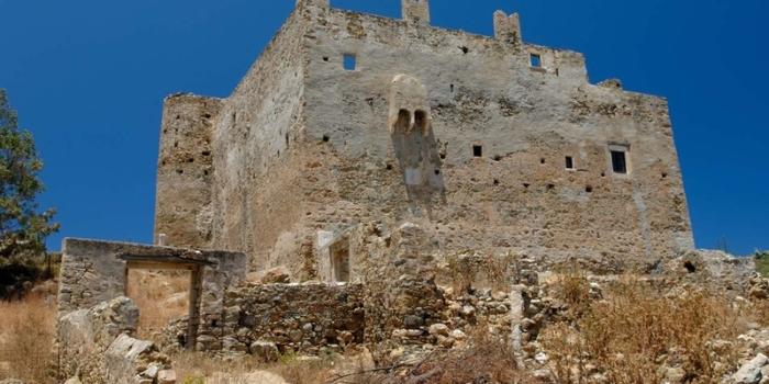Ypsilis castle. Ypsiloteras monastery.Naxos island. Cyclades. Greece. Europe.George Detsis. 06/2008.