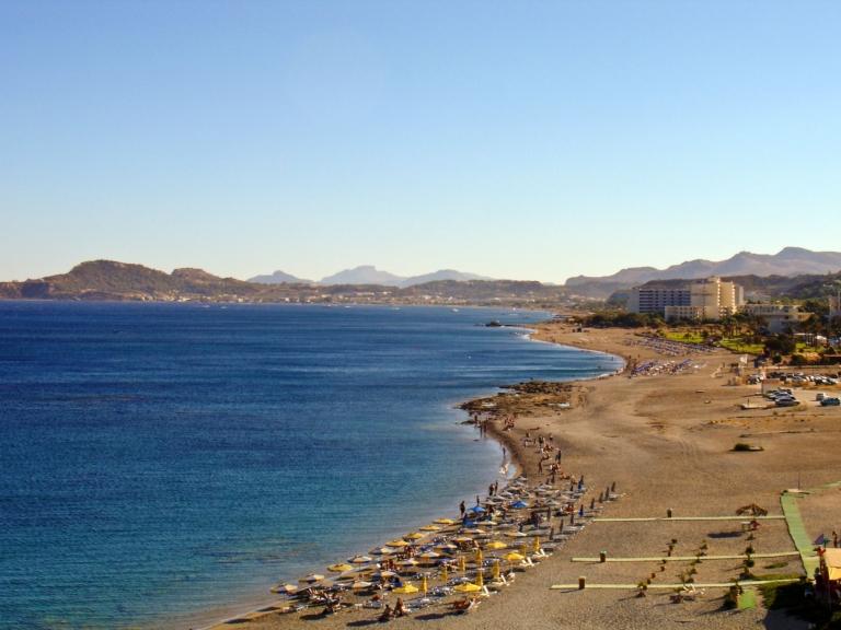 Rhodes, Faliraki beach