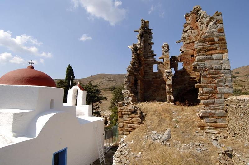 Aghia Marina church..Kea island. Cyclades county. Greece. Europe.George Detsis. 09/2005.