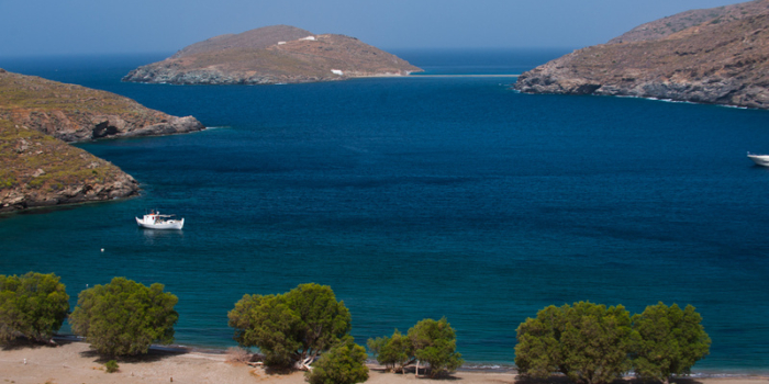 Europe, Greece, Cyclades, Kythnos, beach, Apokrousi