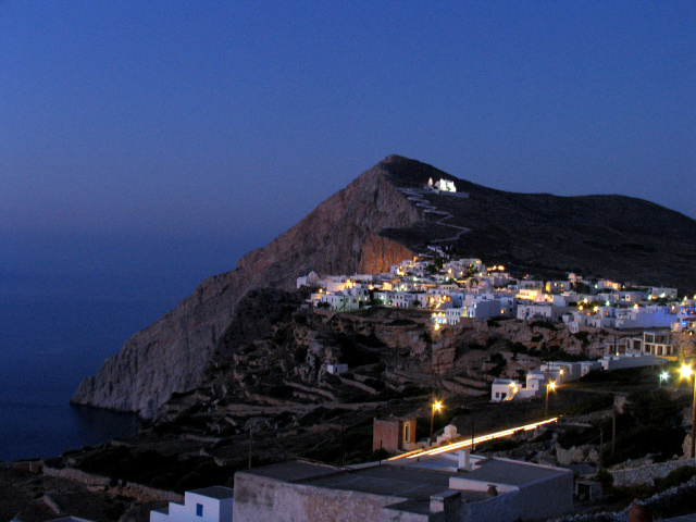 Folegandros - Chora and the castle