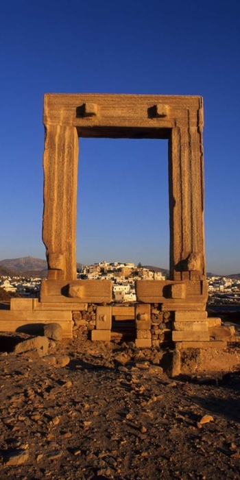 Ariadne temple. Chora (Naxos).Naxos island. Cyclades. Greece.George Detsis. 09/2004.