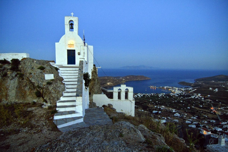 Serifos - The churches of the castle