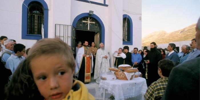Festival, Panagia Kalamiotissa Monastery, ChoraAnafi, Cyclades, Greece, Europe©Clairy Moustafellou /IML