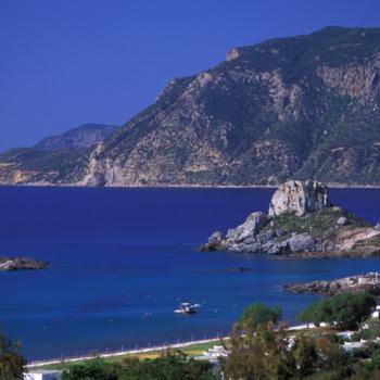 Kefalos village, Agios Nikolaos islet, view Kos, Dodecanese, Greece ©Clairy Moustafellou/IML Image Group