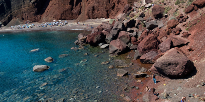 Santorini - Red beach