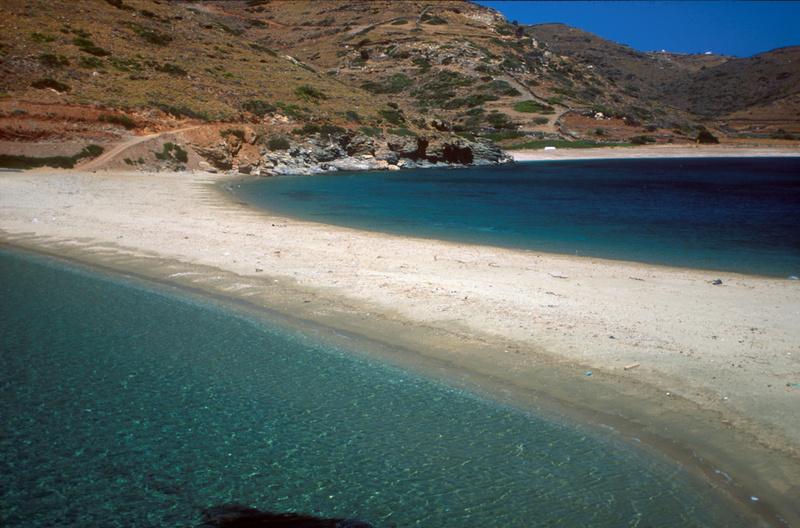 Cyclades, Kythnos Kolona beach