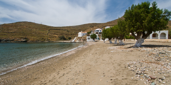 Europe, Greece, Cyclades, Kythnos, beach, Lefkes
