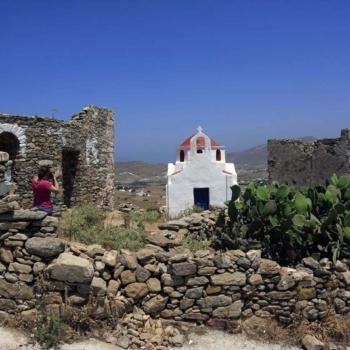 Mykonos - O λόφος Παλαιόκαστρο