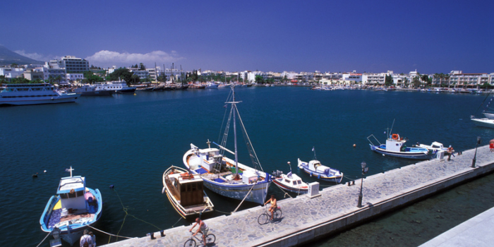 Kos Town, port, boats