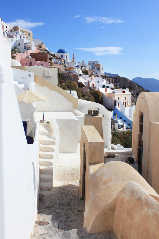 Beautiful Alley in Oia Santorini