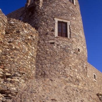 """""""Glezos"""" tower. Kastro. Chora (Naxos). Naxos island. Cyclades. Greece. George Detsis. 09/2004."""